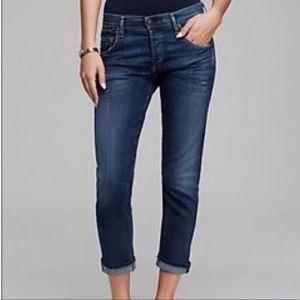 Hudson Jeans Signature Straight Boyfriend Crop 25